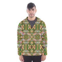 Star Shines On Earth For Peace In Colors Hooded Wind Breaker (men)