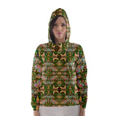 Star Shines On Earth For Peace In Colors Hooded Wind Breaker (women)