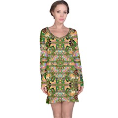 Star Shines On Earth For Peace In Colors Long Sleeve Nightdress