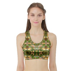 Star Shines On Earth For Peace In Colors Sports Bra With Border
