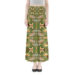 Star Shines On Earth For Peace In Colors Full Length Maxi Skirt