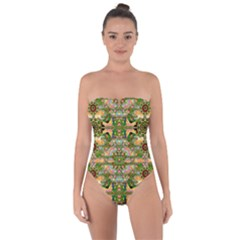 Star Shines On Earth For Peace In Colors Tie Back One Piece Swimsuit