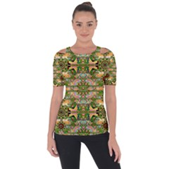 Star Shines On Earth For Peace In Colors Short Sleeve Top
