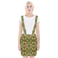 Star Shines On Earth For Peace In Colors Braces Suspender Skirt