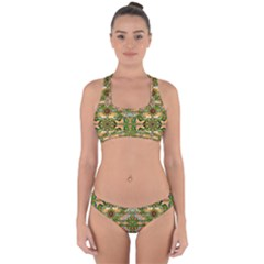 Star Shines On Earth For Peace In Colors Cross Back Hipster Bikini Set