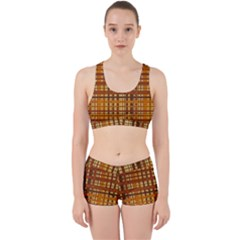 Plaid Pattern Work It Out Sports Bra Set