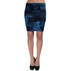 Abstraction Shapes Dark Background  Bodycon Skirt
