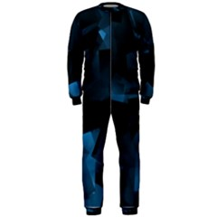 Abstraction Shapes Dark Background  Onepiece Jumpsuit (men)