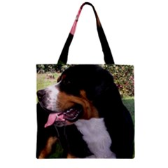 Greater Swiss Mountain Dog Zipper Grocery Tote Bag