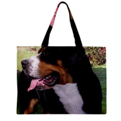 Greater Swiss Mountain Dog Zipper Mini Tote Bag