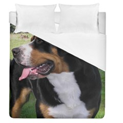 Greater Swiss Mountain Dog Duvet Cover (queen Size)