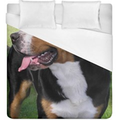 Greater Swiss Mountain Dog Duvet Cover (king Size)