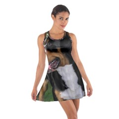 Greater Swiss Mountain Dog Cotton Racerback Dress