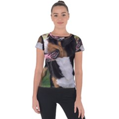 Greater Swiss Mountain Dog Short Sleeve Sports Top