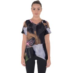 Greater Swiss Mountain Dog Cut Out Side Drop Tee