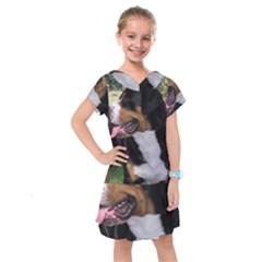 Greater Swiss Mountain Dog Kids  Drop Waist Dress