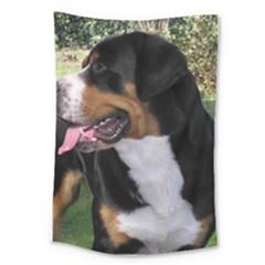 Greater Swiss Mountain Dog Large Tapestry
