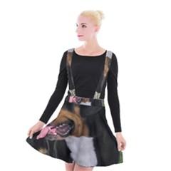 Greater Swiss Mountain Dog Suspender Skater Skirt