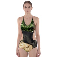Gsmd Full Cut Out One Piece Swimsuit