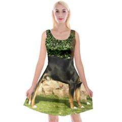 Gsmd Full Reversible Velvet Sleeveless Dress