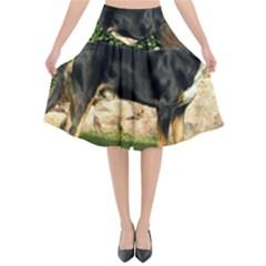 Gsmd Full Flared Midi Skirt