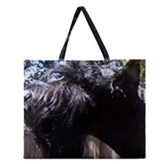 Giant Schnauzer Zipper Large Tote Bag