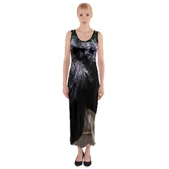 Giant Schnauzer Fitted Maxi Dress