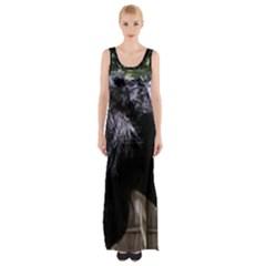 Giant Schnauzer Maxi Thigh Split Dress