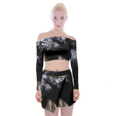 Giant Schnauzer Off Shoulder Top With Skirt Set