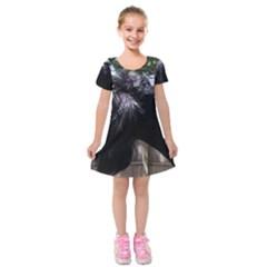 Giant Schnauzer Kids  Short Sleeve Velvet Dress