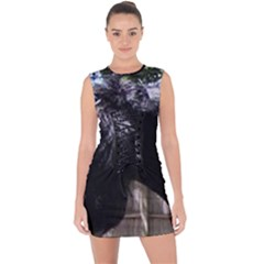 Giant Schnauzer Lace Up Front Bodycon Dress