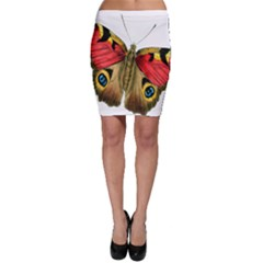 Butterfly Bright Vintage Drawing Bodycon Skirt