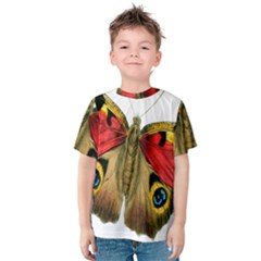 Butterfly Bright Vintage Drawing Kids  Cotton Tee