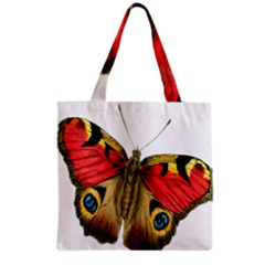 Butterfly Bright Vintage Drawing Grocery Tote Bag