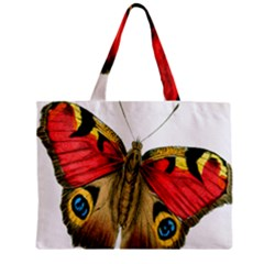 Butterfly Bright Vintage Drawing Zipper Mini Tote Bag