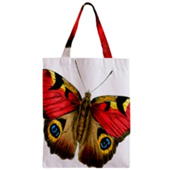 Butterfly Bright Vintage Drawing Zipper Classic Tote Bag