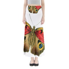Butterfly Bright Vintage Drawing Full Length Maxi Skirt