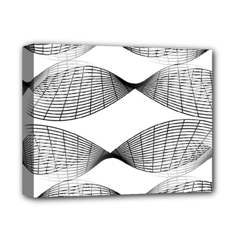 Curves Pattern Black On White Deluxe Canvas 14  X 11
