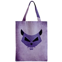 Purple Evil Cat Skull Classic Tote Bag