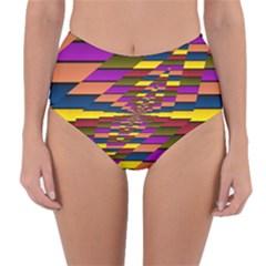 Autumn Check Reversible High Waist Bikini Bottoms