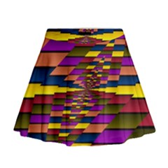 Autumn Check Mini Flare Skirt