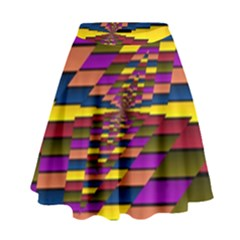 Autumn Check High Waist Skirt