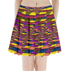 Autumn Check Pleated Mini Skirt