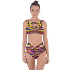 Autumn Check Bandaged Up Bikini Set