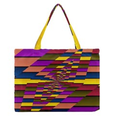 Autumn Check Zipper Medium Tote Bag