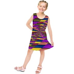 Autumn Check Kids  Tunic Dress