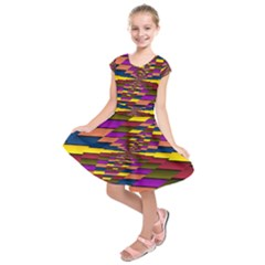 Autumn Check Kids  Short Sleeve Dress