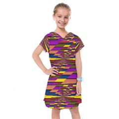 Autumn Check Kids  Drop Waist Dress
