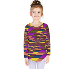 Autumn Check Kids  Long Sleeve Tee