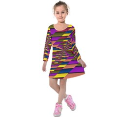 Autumn Check Kids  Long Sleeve Velvet Dress